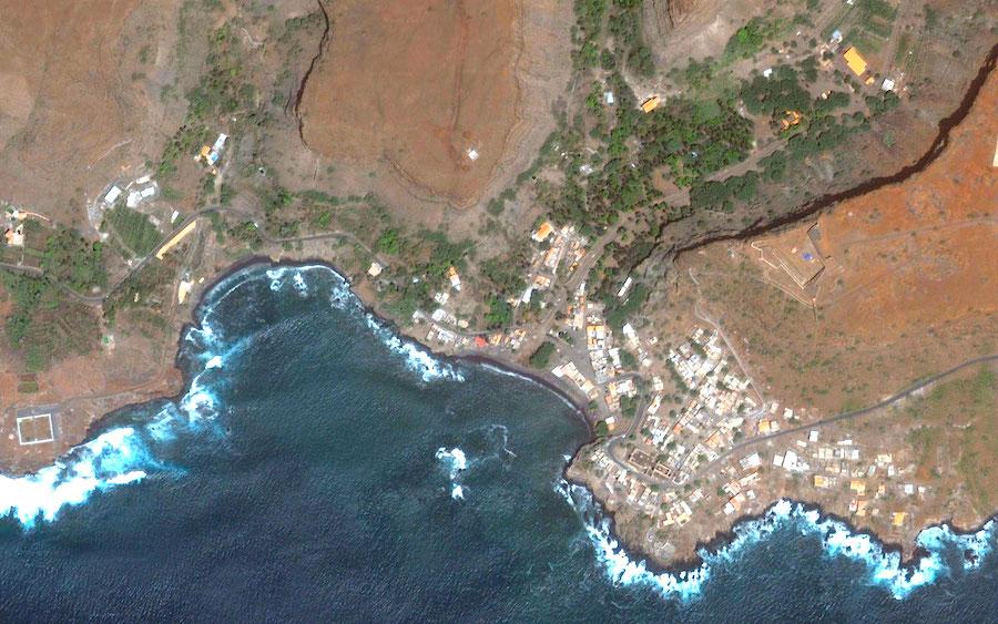 Mapa da Cidade Velha, imagem aérea